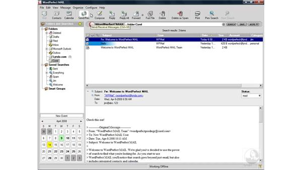 Enabling spam protection: WordPerfect Office X4 Essential Training