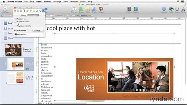 Using widgets in iBooks Author