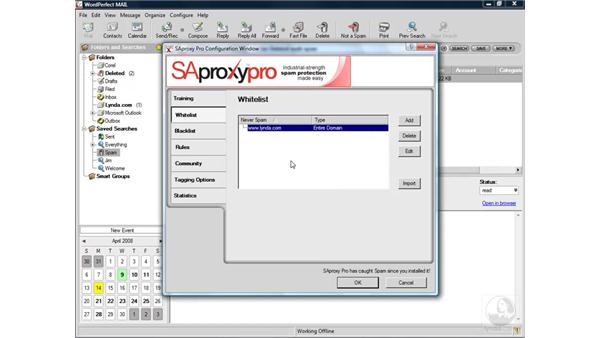Adjusting spam protection: WordPerfect Office X4 Essential Training