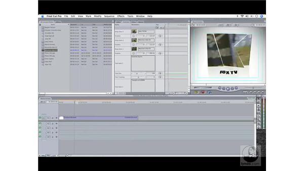 Motion templates: Final Cut Pro 6 Workflow