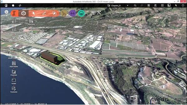 Navigating the model using the mouse: Up and Running with InfraWorks