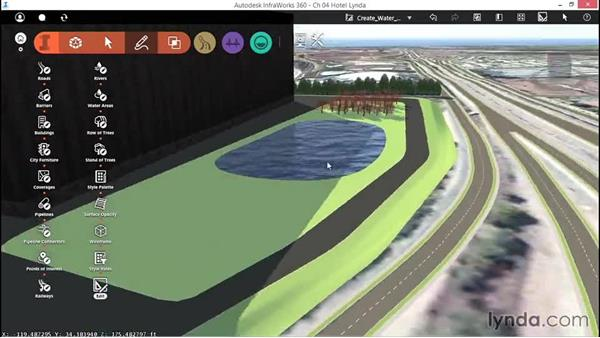 Creating water features: Up and Running with InfraWorks
