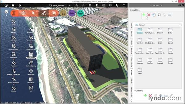 Working with the Style palette: Up and Running with InfraWorks