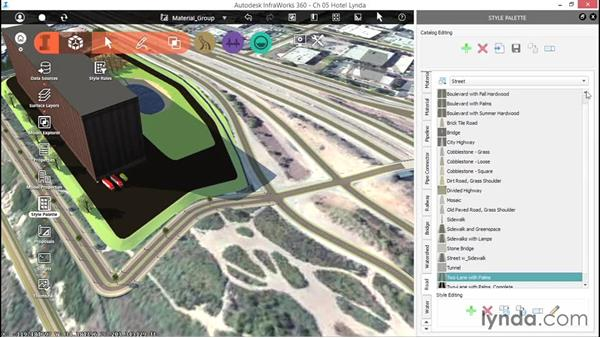 Creating a material group: Up and Running with InfraWorks