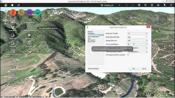 Working with Model Generation settings: Up and Running with InfraWorks