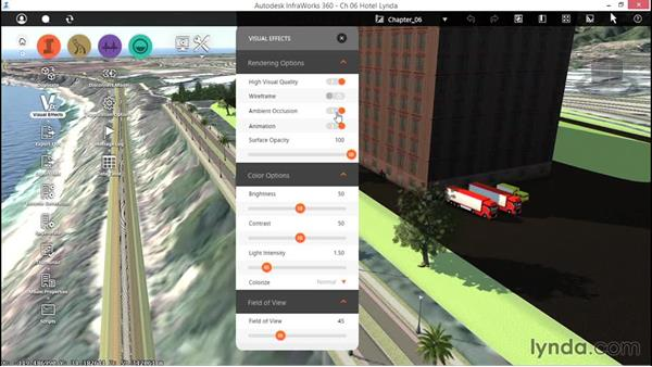 Working with visual effects: Up and Running with InfraWorks