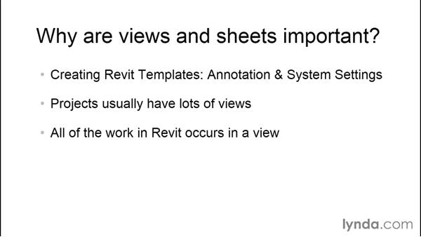 Why are views and sheets important?: Creating Revit Templates: Views and Sheets