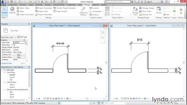 Working with imperial vs. metric units: Creating Revit Templates: Views and Sheets