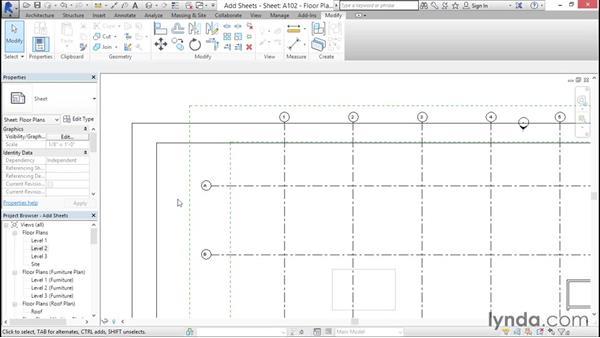 Adding sheets to a Sheet List: Creating Revit Templates: Views and Sheets