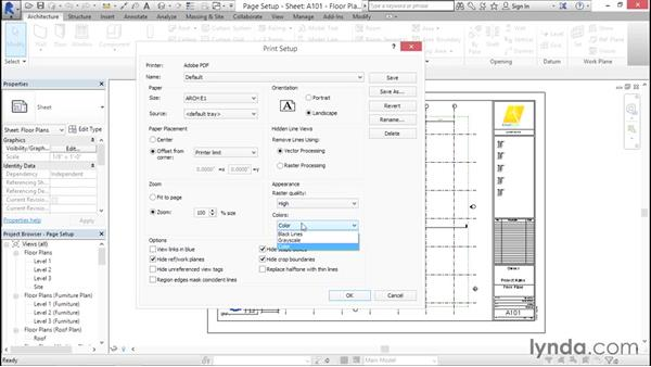 Understanding page setups: Creating Revit Templates: Views and Sheets