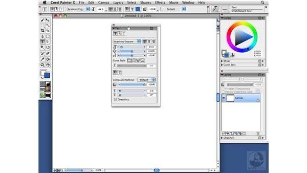 Using the Tool palette and the Property bar: Two sides of the same coin: Painter X Essential Training
