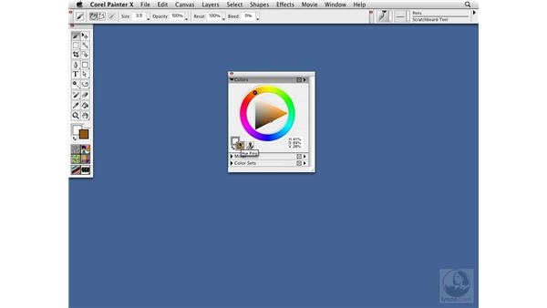 The Color palette: Visual color selection: Painter X Essential Training