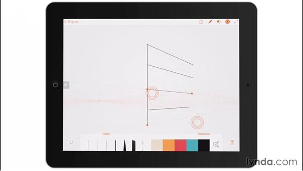 Perspective drawing: Drawing on the iPad with Adobe Illustrator Line
