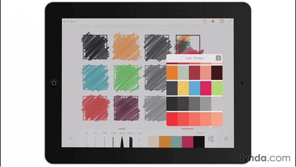 Default color themes: Drawing on the iPad with Adobe Illustrator Line
