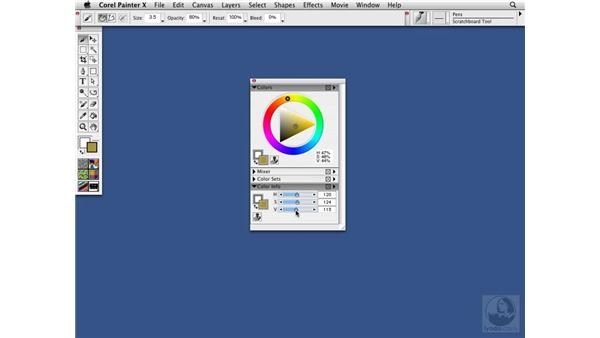 The Color Info palette: Precise color selection: Painter X Essential Training