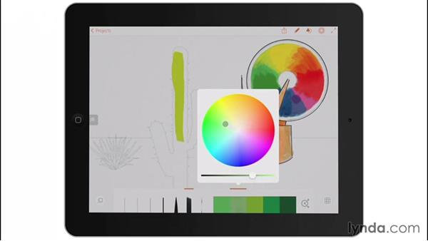 The color wheel: Drawing on the iPad with Adobe Illustrator Line