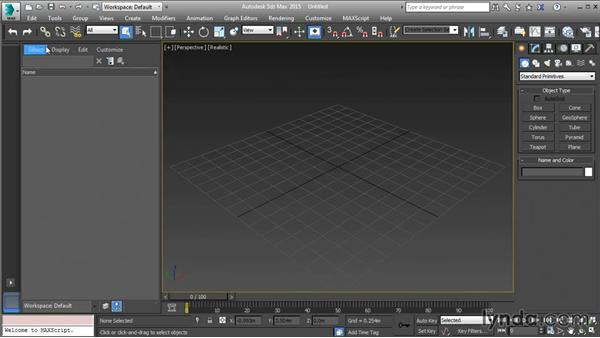 Streamlining the 3ds Max interface