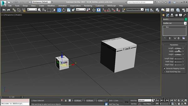 Changing 3ds Max system units: 3ds Max and Maya Integration