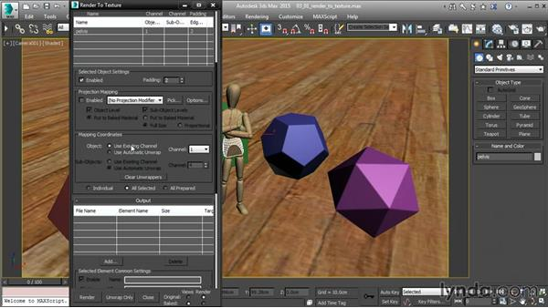 Render to Texture in 3ds Max: 3ds Max and Maya Integration
