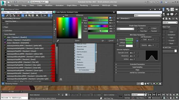 Setting ambient color in 3ds Max
