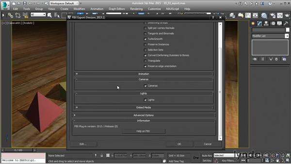 Exporting from 3ds Max to FBX: 3ds Max and Maya Integration