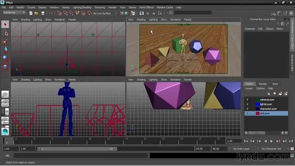Correcting materials and lighting: 3ds Max and Maya Integration