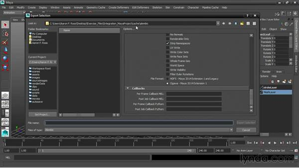 Exporting to Alembic: 3ds Max and Maya Integration