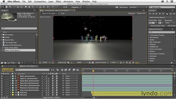 Look at layers: After Effects Tips and Techniques: Shortcuts, Navigation, and Project Management
