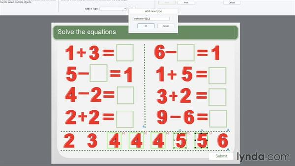 Example four: Solve the equations (many to many): Captivate Projects: Drag-and-Drop Interactions