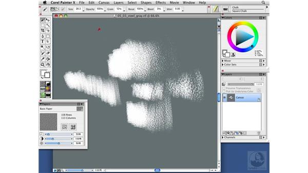 Managing brushes and paper texture: Painter X Essential Training