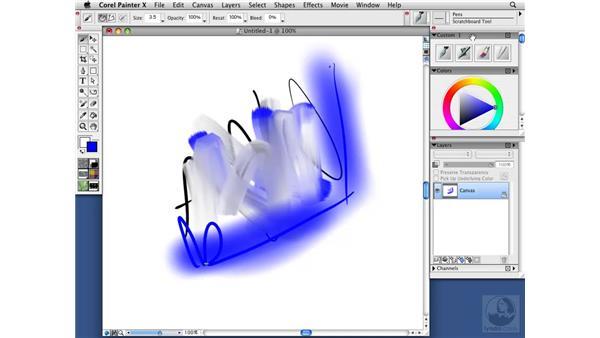Custom palettes: Painter X Essential Training