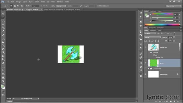 375 Adding a big-pixel, Minecraft background: Deke's Techniques