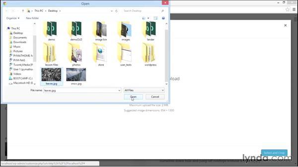 Adding a header background image: Start With a Theme: Twenty Fifteen