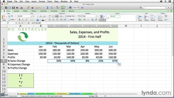 Understanding the hierarchy of operations in Excel formulas: Excel 2011 for the Mac: Mastering Formulas and Functions