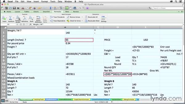 Displaying and highlighting formulas: Excel 2011 for the Mac: Mastering Formulas and Functions
