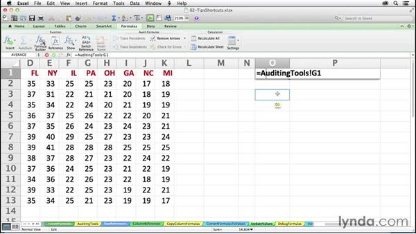 Tracking cell dependencies and locating formula sources: Excel 2011 for the Mac: Mastering Formulas and Functions