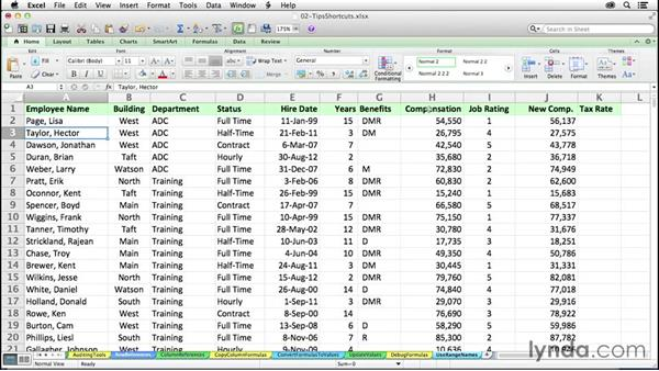 Enhancing readability with range names: Excel 2011 for the Mac: Mastering Formulas and Functions