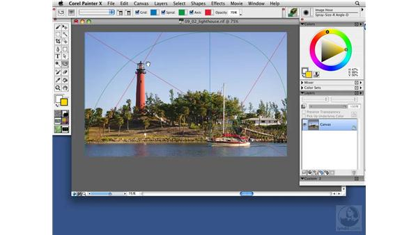 Understanding the Divine Proportion tool: Painter X Essential Training
