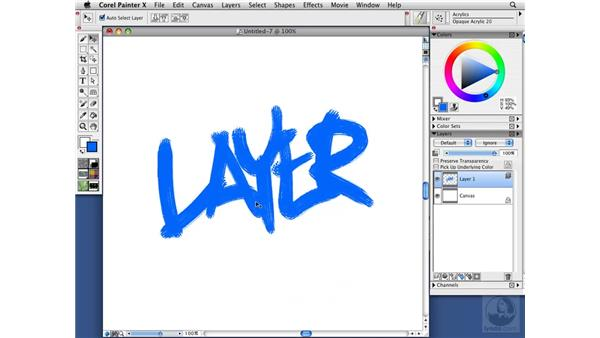Creating and deleting layers: Painter X Essential Training
