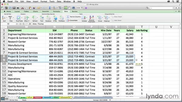 Extending formula capabilities with arrays: Excel 2011 for the Mac: Mastering Formulas and Functions