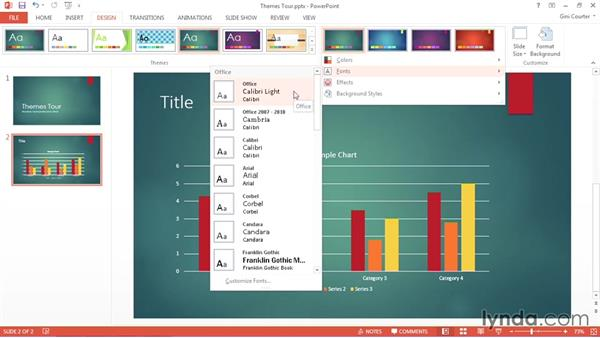 Accessing theme elements: Using Office 2013 Themes and Templates for Branding