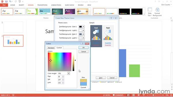 Creating a color palette: Using Office 2013 Themes and Templates for Branding