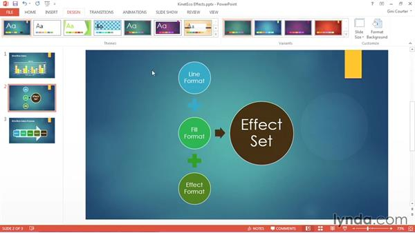Selecting effects: Using Office 2013 Themes and Templates for Branding