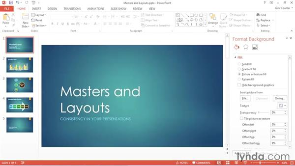 Creating or modifying a slide layout: Using Office 2013 Themes and Templates for Branding
