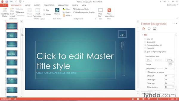 Adding text and text placeholders: Using Office 2013 Themes and Templates for Branding