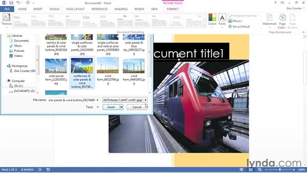 Creating a custom cover page: Using Office 2013 Themes and Templates for Branding