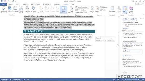 Restricting editing: Using Office 2013 Themes and Templates for Branding