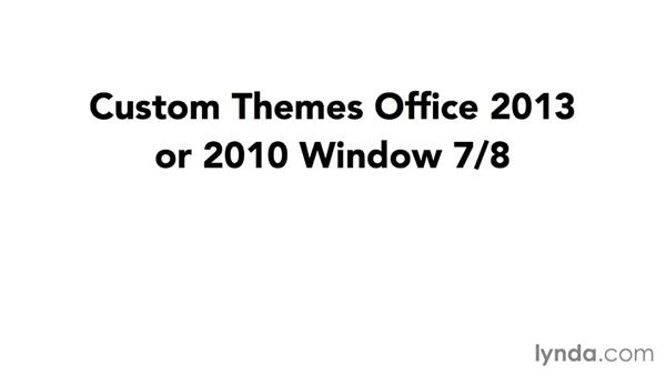 Sharing themes, colors, and fonts: Using Office 2013 Themes and Templates for Branding
