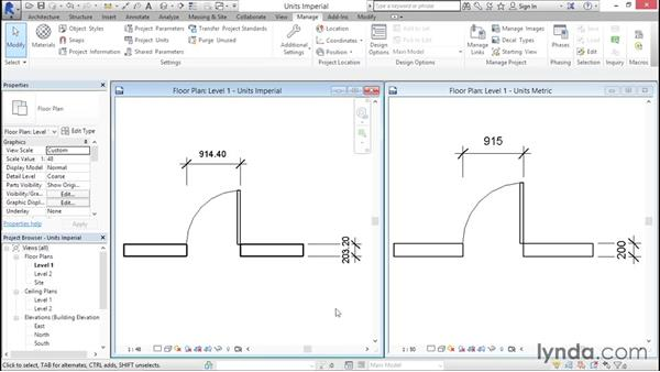Working with imperial vs. metric units: Creating Revit Templates: Content