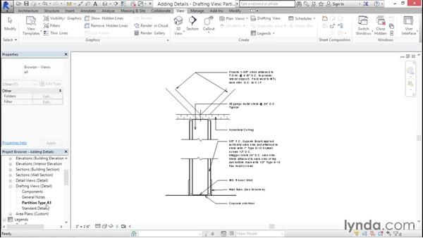 Creating standards detail sheets: Creating Revit Templates: Content